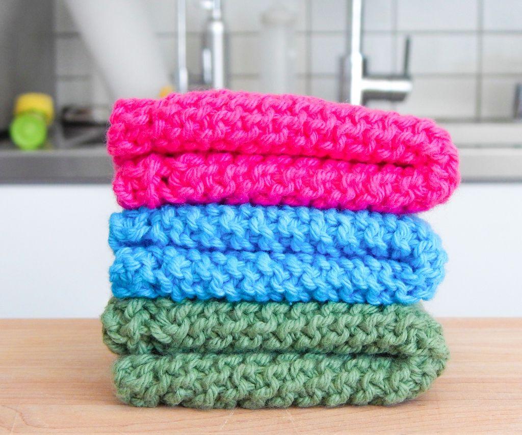 Crochet Dishcloths Free Patterns Easy Knit Dishcloth ...