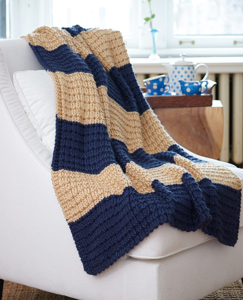 Knitted Afghan Patterns Free Mary Maxim Free Easy Breezy ...