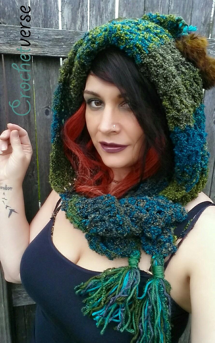 Scoodie Crochet Pattern Free Pixie Hood Crochet Pattern ...